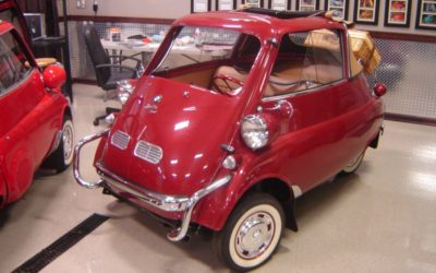 1957 Red BMW Isetta Convertible