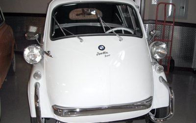 1957 White BMW Isetta Convertible